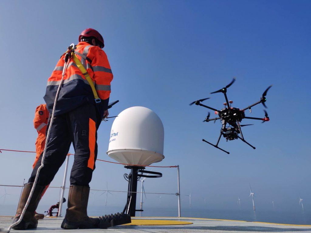 Inspectie windturbines offshore